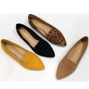 Emmy Suede Pointed Loafers